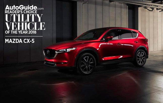 mazda cx-5 autoguide.com reader's choice utility vehicle of the year
