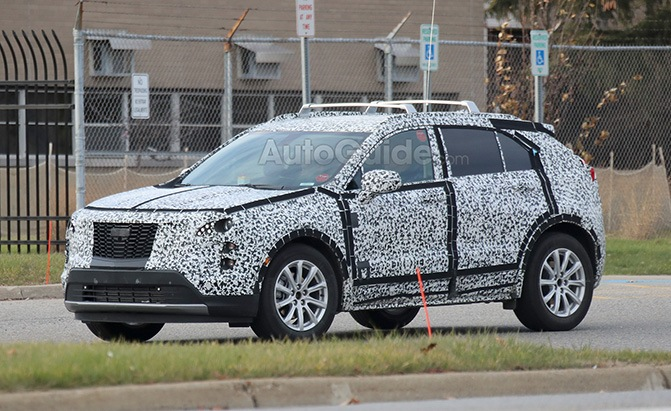 cadillac xt4 spy photos