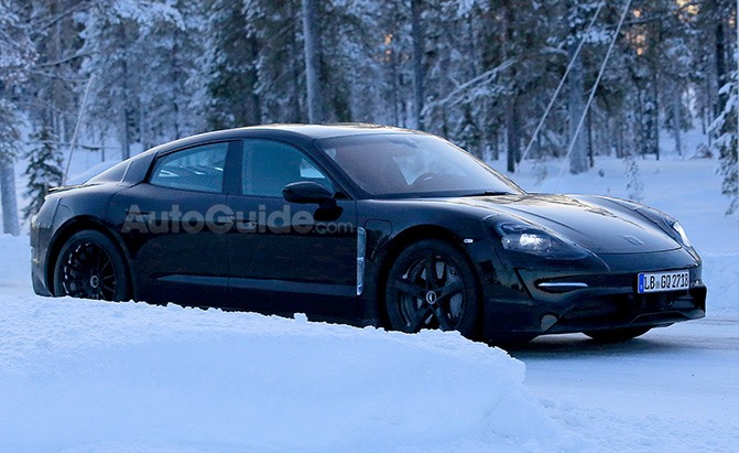 porsche mission e spy photos