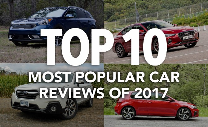 top 10 most popular car reviews of 2017