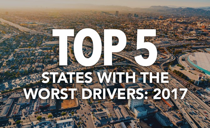 top 5 states with the worst drivers 2017