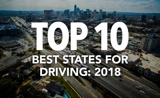 top 10 best states for driving 2018