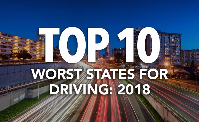 top 10 worst states for driving
