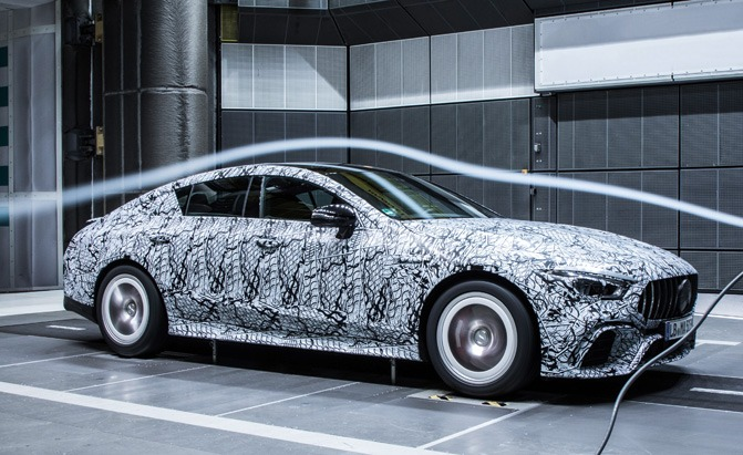 four-door mercedes-amg gt coupe wind tunnel