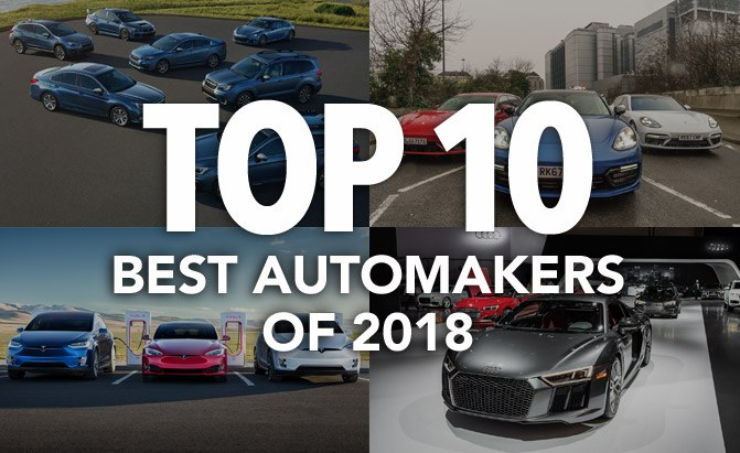 top 10 best automakers of 2018