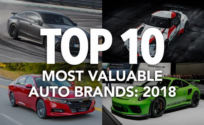 top 10 most valuable auto brands 2018