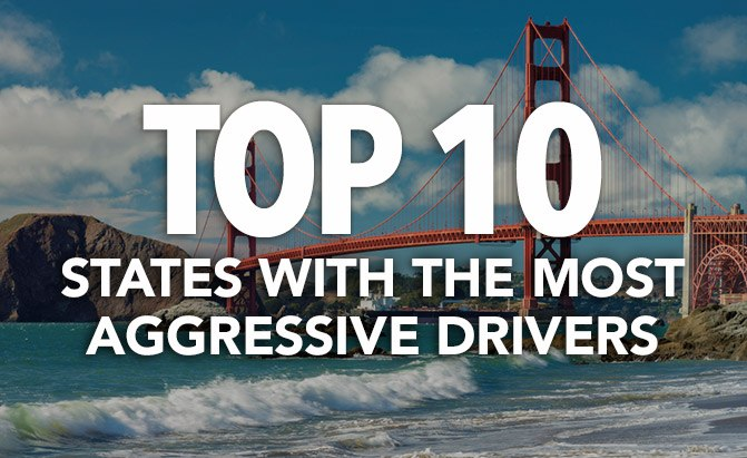 top 10 states with the most aggressive drivers