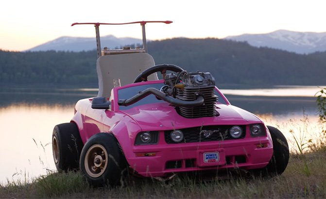 barbie car with a real engine