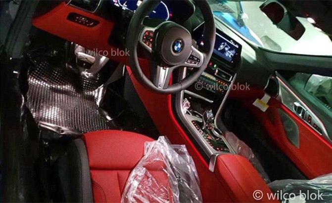 bmw 8 series interior leaked photo
