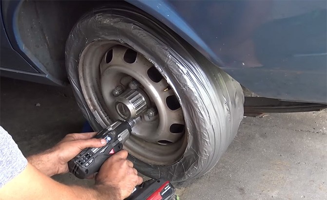 duct tape spare tire