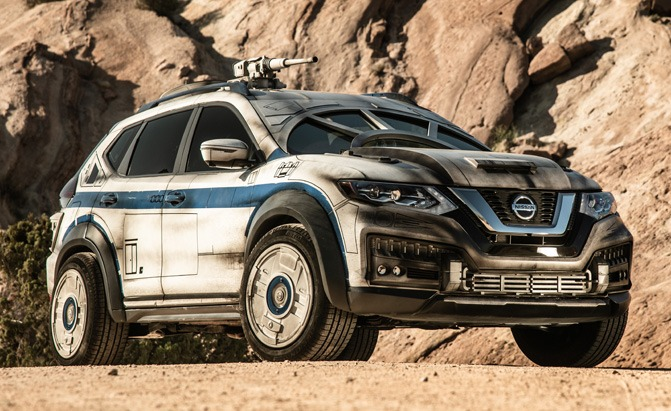 nissan rogue star wars themed show vehicle