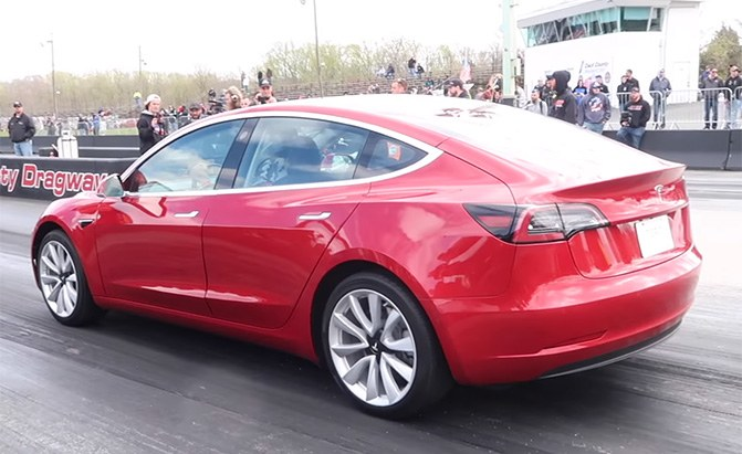 tesla model 3 quarter mile