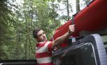 Here's theThe Best Ways to Tie Down a Canoe to a car.