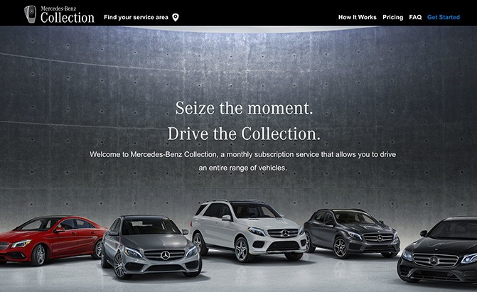 mercedes-benz collection subscription service