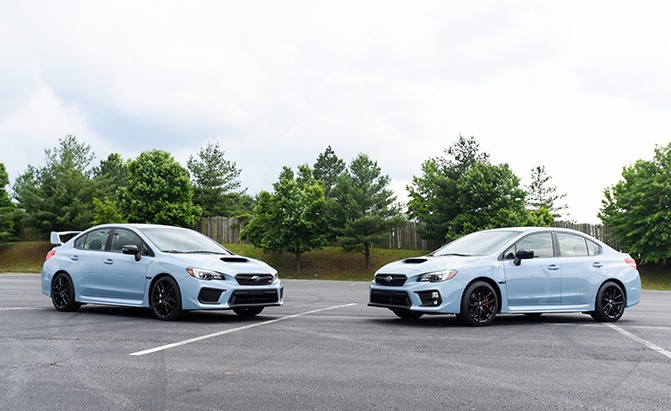subaru wrx and wrx sti series gray