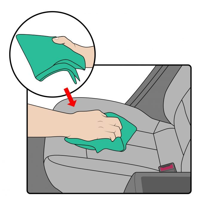 How To Clean Cloth Car Seats- Step 4