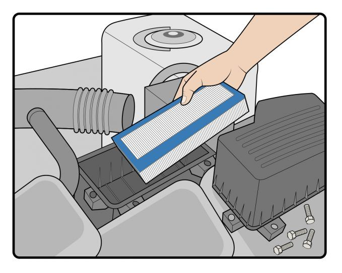 How To Replace An Engine Air Filter On Your Car-Step-5