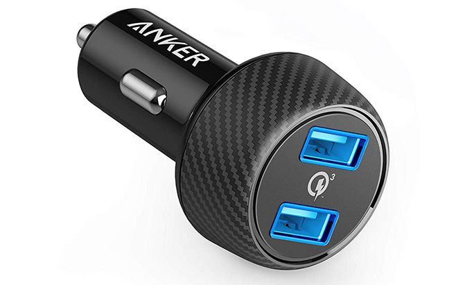 anker quick charge 39w dual usb car charger