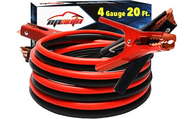 epauto 4-gauge heavy duty booster jumper cables