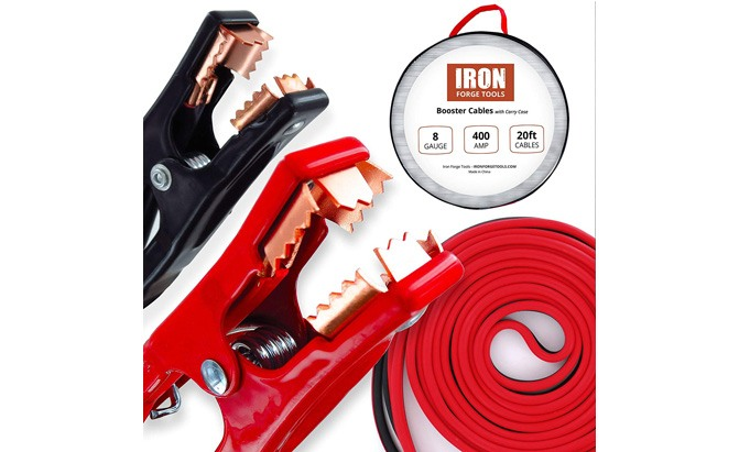 iron forge tools 20 foot jumper cables