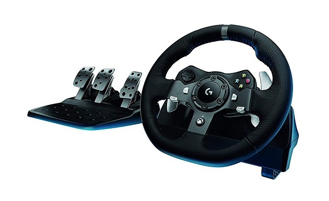 logitech g920 dual motor feedback driving force racing wheel