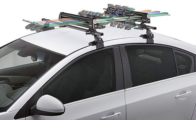 sportrack groomer deluxe ski carrier