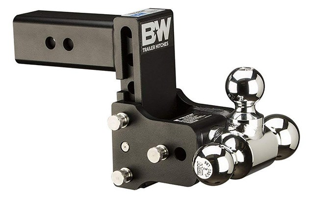 b&w trailer hitches tow & stow triple ball hitch