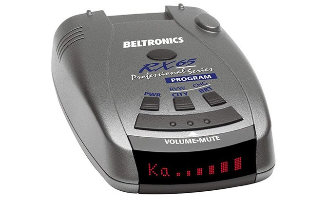 beltronics rx65 red professional series radar detector
