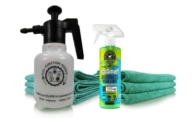 chemical guys eco friendly drought buster waterless car wash and wax kit