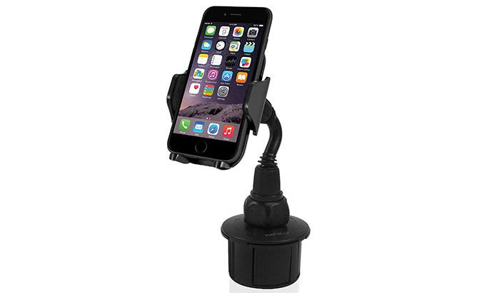 macally adjustable cup holder phone mount