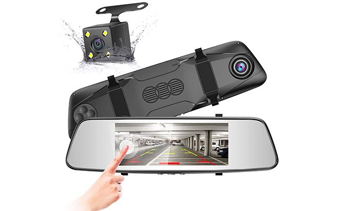 pruveeo d700 touchscreen backup camera