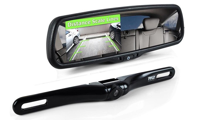 pyle rearview backup camera mirror