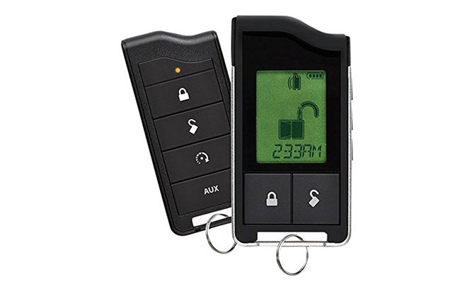 python 2-way lcd security and remote start system
