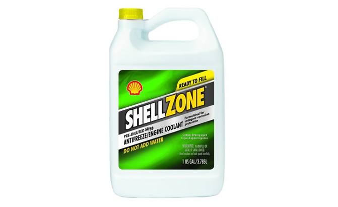 shellzone pre-diluted antifreeze engine coolant