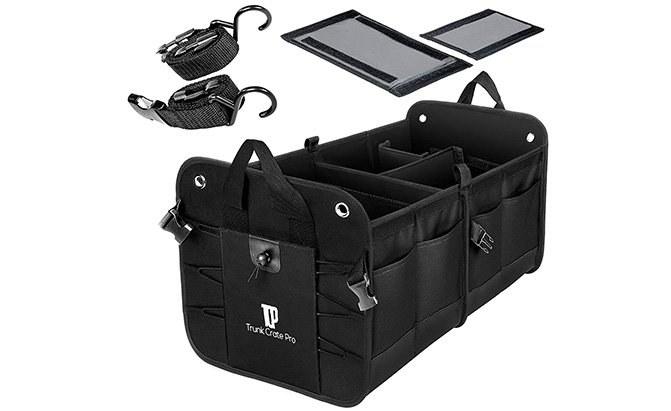 trunkcratepro collapsible portable trunk organizer