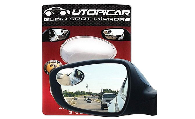 utopicar semi-oval blind spot mirrors
