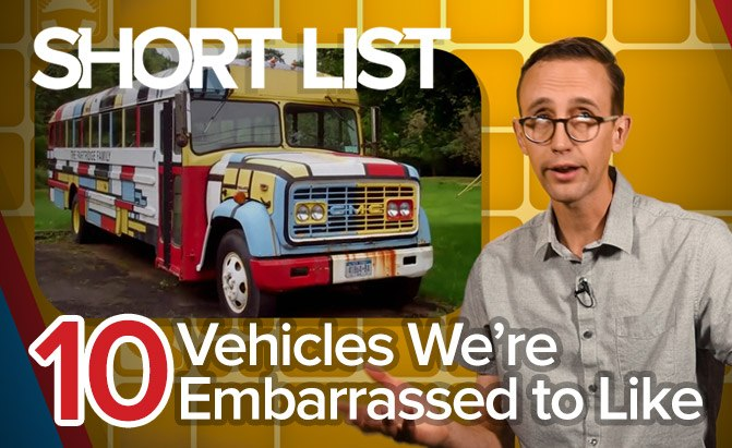 Top 10 Vehicles We're Embarrassed to Like