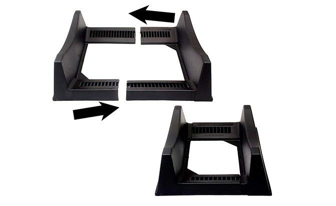 adjustable tire display stand