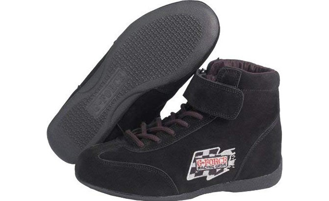 g-force 0235140bk racegrip midtop racing shoes