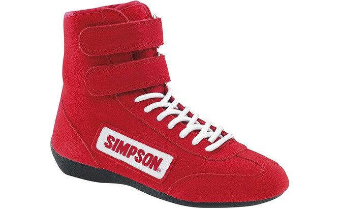 simpson racing 28100rd hightop driving shoes