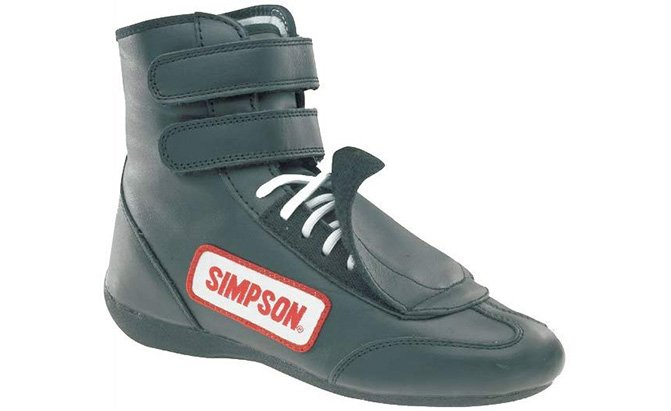 simpson racing sp105bk black sprint driving shoes