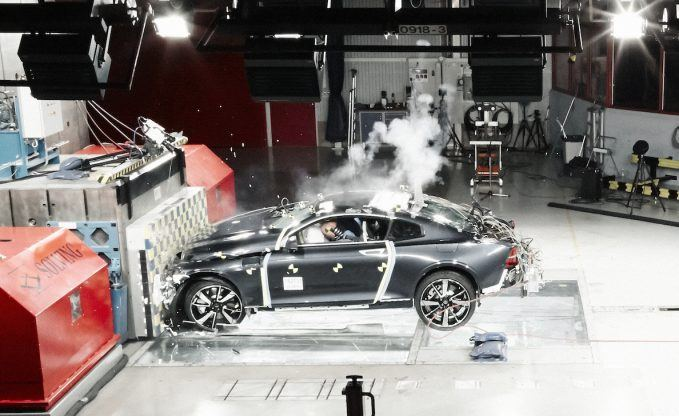 Polestar's First Carbon Fiber Crash Test Was a Success