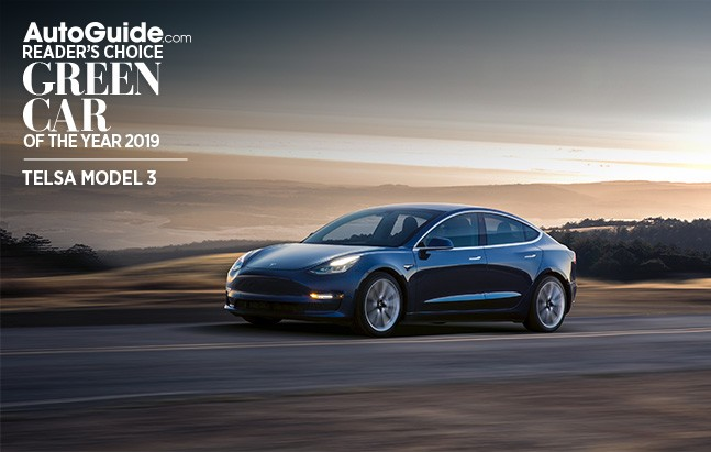 Tesla Model 3 Voted As Autoguide 2019 Reader S Choice Green Car Of The Year