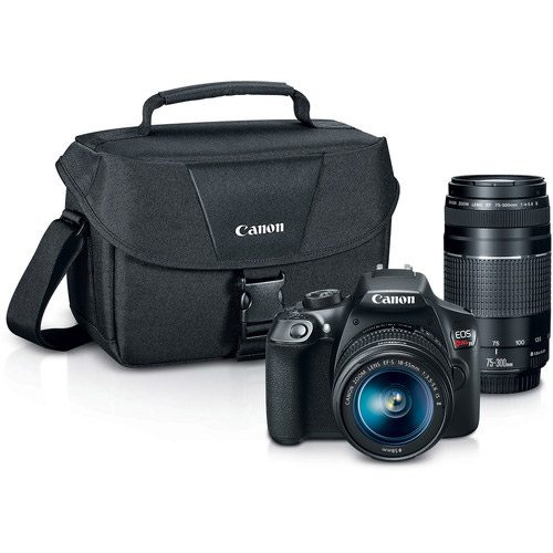 canon eos rebel t6 dslr camera with two lenses