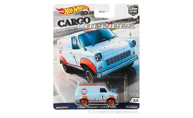 hot wheels cargo carriers gulf ford transit