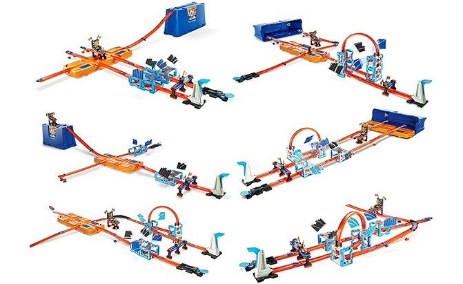 hot wheels track builder ultimate stunt box