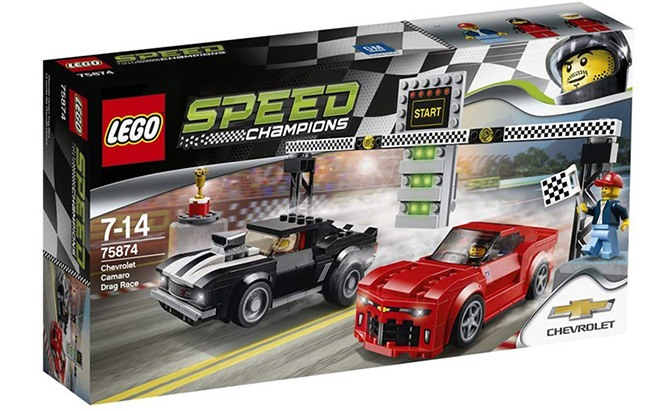 lego speed champions chevrolet camaro drag race