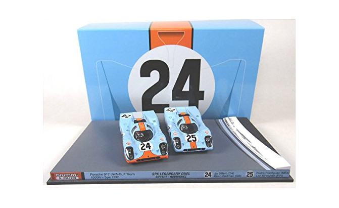 porsche 917k gulf racing team model car