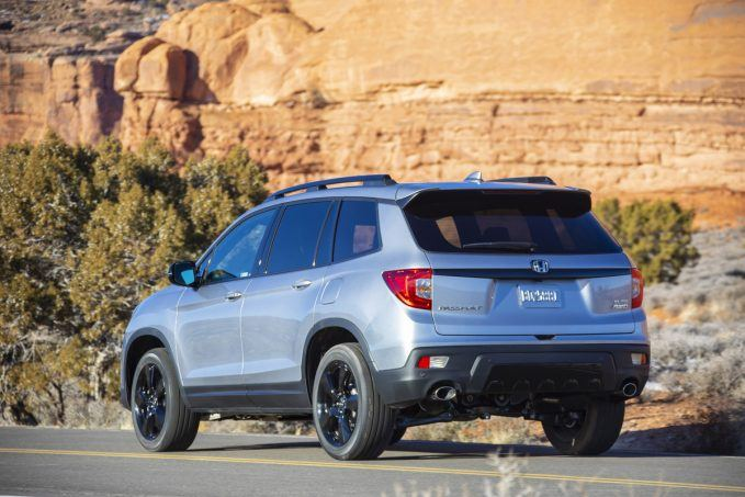 2019 Honda Passport rear three quarters
