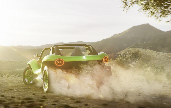 VW Debuts Off-Roady 200-HP Electric Dune Buggy Concept